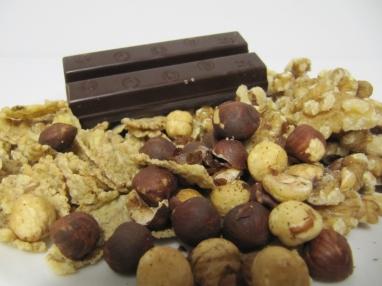 Ingredients per fer roques amb xocolata