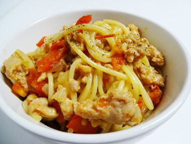 10-Espaguetis amb salsitxes